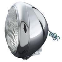 J&P Cycles® 7″ Quartz Halogen Lamp Headlight Assembly