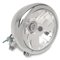 5-3/4″ Chrome Bottom-Mount Diamond-Style Mount Headlight
