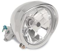 5-3/4″ Chrome Bottom-Mount Diamond-Style Headlight