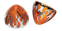Motor City Cycle Amber Rear Turn Signal Lenses w/ Flames