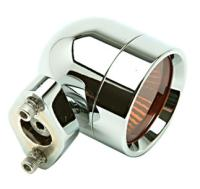Lazer Star Shorty Style Halogen FL Diamond Base Mount Lights with Amber Lenses