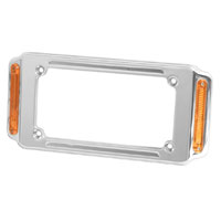J&P Cycles® License Plate Frame With Marker Lights