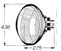 J&P Cycles® 12-Volt 4-1/2″ Replacement Sealed Beam Bulb 30/30W