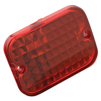 Red Replacement Lens for Rectangular Marker Light