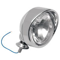 J&P Cycles® Milwaukee Twins Nite Visions Spotlight Assembly with Visored Trim Ring