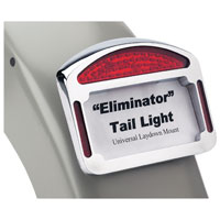 CycleVisions Eliminator Chrome LED Taillight/License Plate Fram