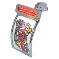Jaybrake Primary Drive Rectangular Taillight License Plate Mount