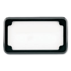 CycleVisions Black Beveled License Plate Frame