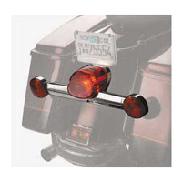 Laydown Taillight Lense Red Blackout with Reflector