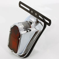 V-Twin Manufacturing Tombstone Chrome Tail Lamp