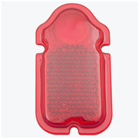 V-Twin Manufacturing Red Lens with Gasket for Tombstone Taillight