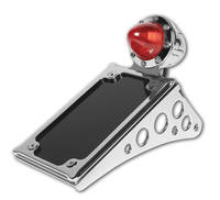 Roland Sands Design Chrome Tracker Taillight with License Plate Holder
