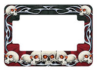 American Eastern Traders Skulls License Plate Frame