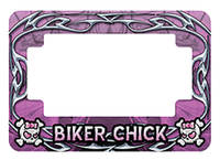 American Eastern Traders Pink Biker Chick License Plate Frame