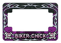 American Eastern Traders Purple Biker Chick License Plate Frame