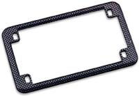 J&P Cycles® Carbon Fiber Look-Alike license Plate Frame