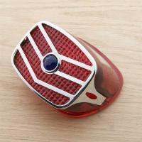 Chevron Taillight Grill with Red Plastic Lens and Blue Dot