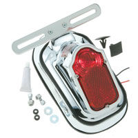 J&P Cycles® Complete Tombstone Taillight Kit with Adapter