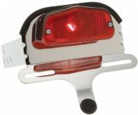 J&P Cycles® Lucas Style Taillight & Bracket Kit for 6-1/2″ wide Quick Bob Fenders