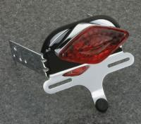 J&P Cycles® Taillight kit, diamond, for Quick Bob fender kits