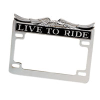 "J&P Cycles® ""Live to Ride"" License Plate Frame"