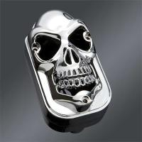 J&P Cycles® Chrome Taillight Cover Skull for Tombstones