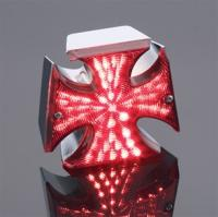 J&P Cycles® Maltese Cross Taillight with LED Bulb
