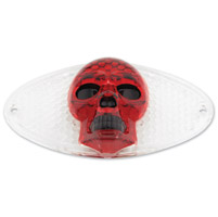 J&P Cycles® Skull Lense for Cateye Taillight