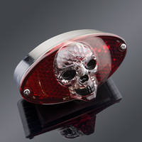 J&P Cycles® 3-D Skull Taillight Cateye with LEDs