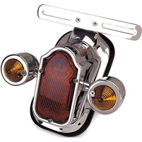 J&P Cycles Rear Fender Tombstone Light with Directionals