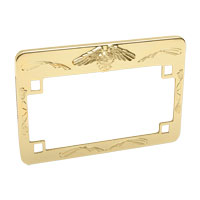 J&P Cycles® Gold Eagle License Plate Frame