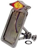 J&P Cycles® Diamond LED Taillight and License Mount