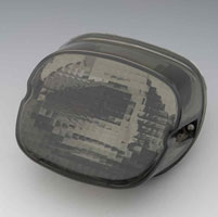 J&P Cycles® Smoke Tailight Lens with License Plate Facing Down