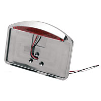 V-Twin Manufacturing Chrome Billet Fender Mount Taillight and License Plate Holder