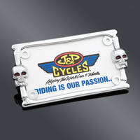 J&P Cycles® Skull Style License Plate Frame