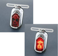 Tombstone LED Taillight with Skull Lense