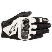 Black Alpinestars SMX-1 Air Mens Motorcycle Gloves Medium