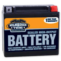 J&P Cycles® High Output USA Made Battery Model YTX20HL