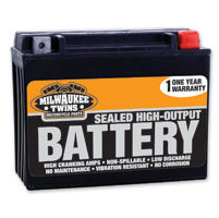J&P Cycles® High Output USA Made Battery Model YTX24HL