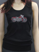 Rhinestone Bike Tank Top