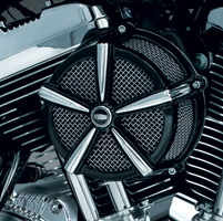 Kuryakyn Mach 2 Black and Chrome Air Cleaner for Custom Applications
