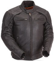 First Manufacturing Co. Men's Vented Scooter Jacket with Reflective Piping