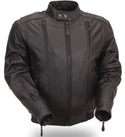First Manufacturing Co. Men's Classic Leather Bomber Jacket