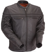First Manufacturing Co. Men's Sporty Leather Scooter Jacket