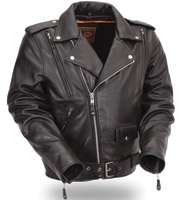 First Manufacturing Co. Men's Vented Classic Leather Jacket