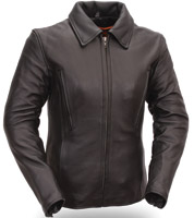 First Manufacturing Co. Women's 3/4 Length Hourglass Leather Jacket