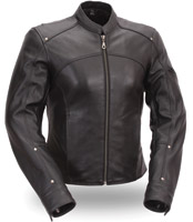 First Manufacturing Co. Women's Shape Accentuating Leather Jacket