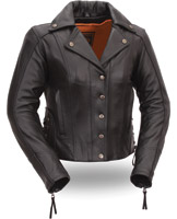 First Manufacturing Co. Women's Updated M/C Leather Jacket
