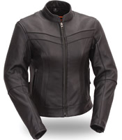 First Manufacturing Co. Women's Stylish Leather Scooter Jacket