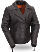 First Manufacturing Co. Women's Blacked Out Hourglass Leather Jacket